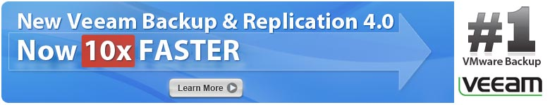 New Veeam Backup & Replication 4.0 - Click here to learn more.